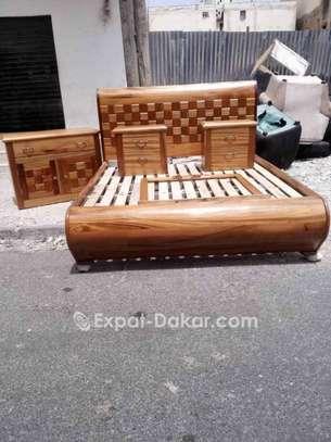Double lit en bois image 1