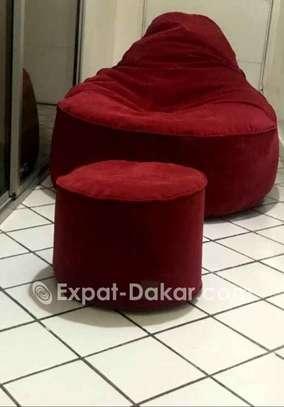 Pouf poire/amande/ lounge image 5