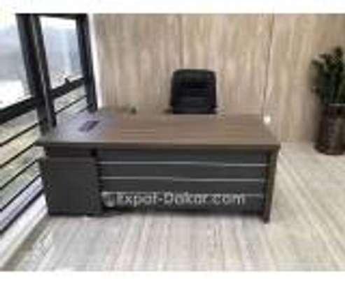 Table de bureau 1m80 avec retour image 1