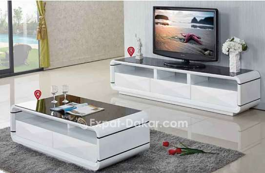 Ensemble table TV et table basse image 5