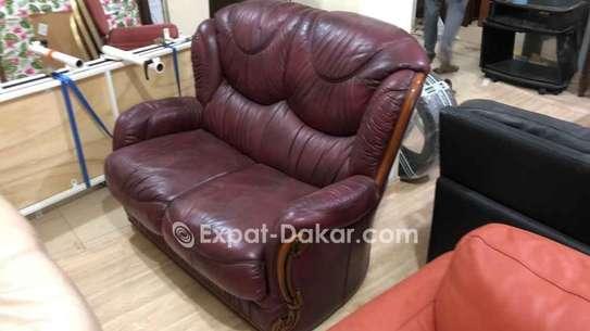 Canapé cuir 2 places image 1