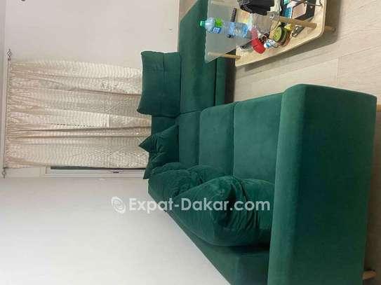 Canapé lit velour image 1