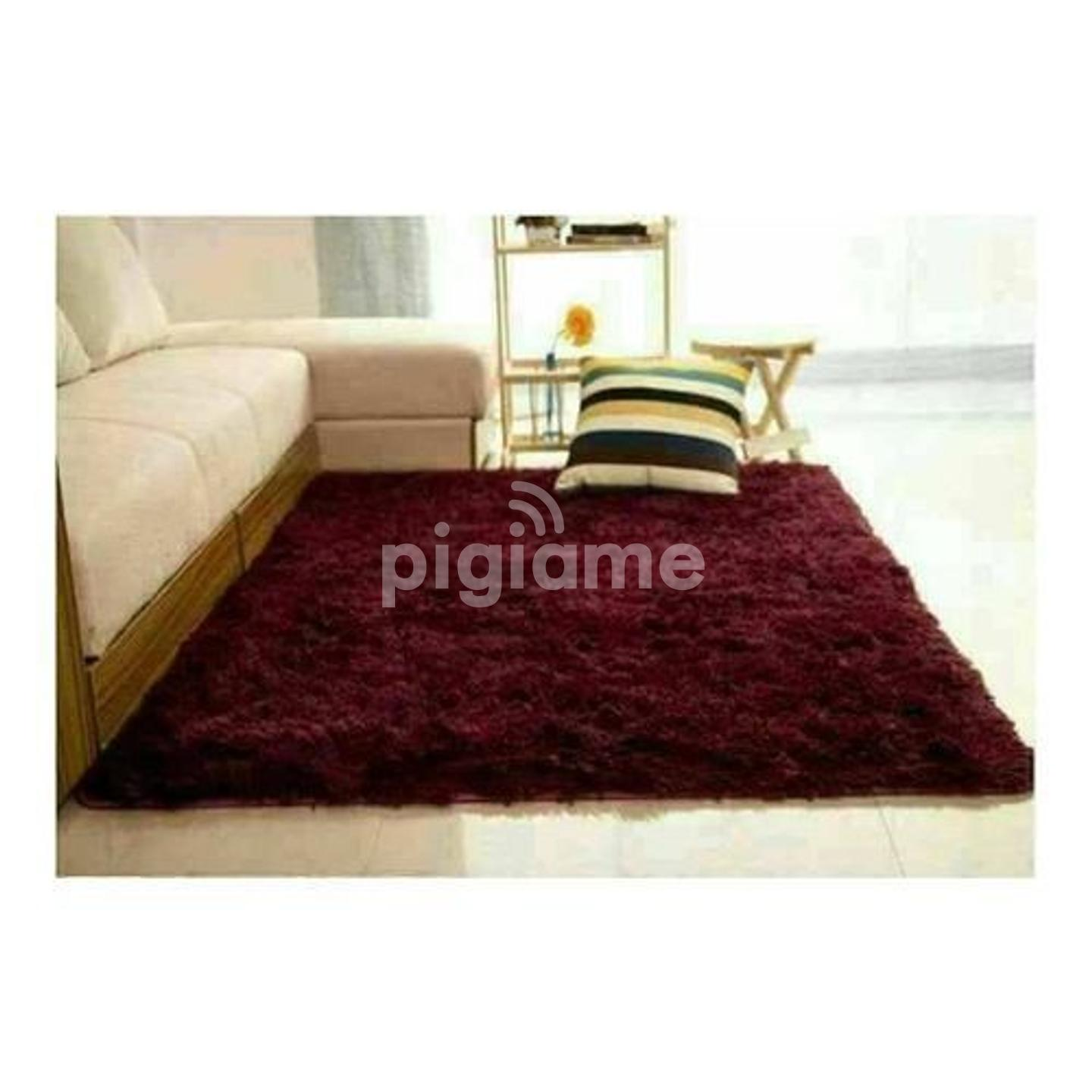 Fluffy Smooth Carpet For Living Room Maroon In Nairobi Pigiame