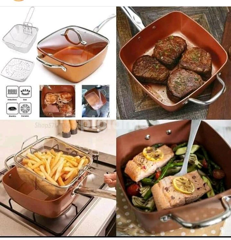 Multi-purpose 1 copper pan Efficient deep frying