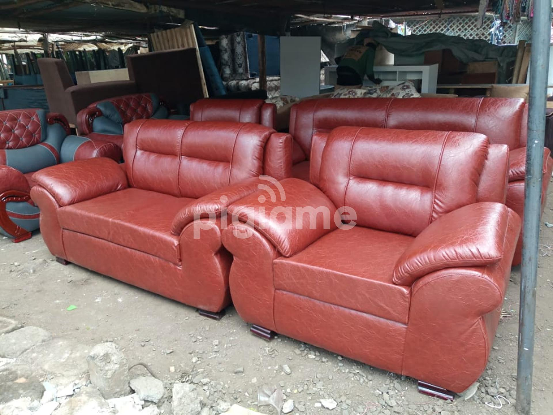 7 Seater Synthetic Leather Sofa Set In