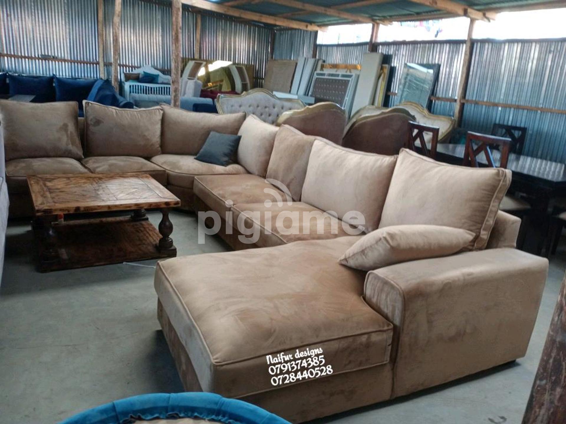 Picture of: Ten Seater Sofa U Shaped Sofa Brown Sofas L Shaped Sofas In Nairobi Pigiame