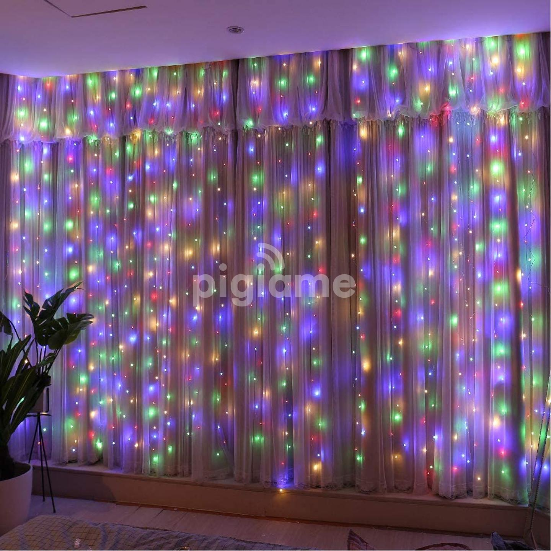 Upgrade Curtain Fairy Lights 300led Multicolor String Light 8 Modes Usb Plug In Diy Decorative Light For Bedroom Indoor Outdoor Wedding In Nairobi Pigiame