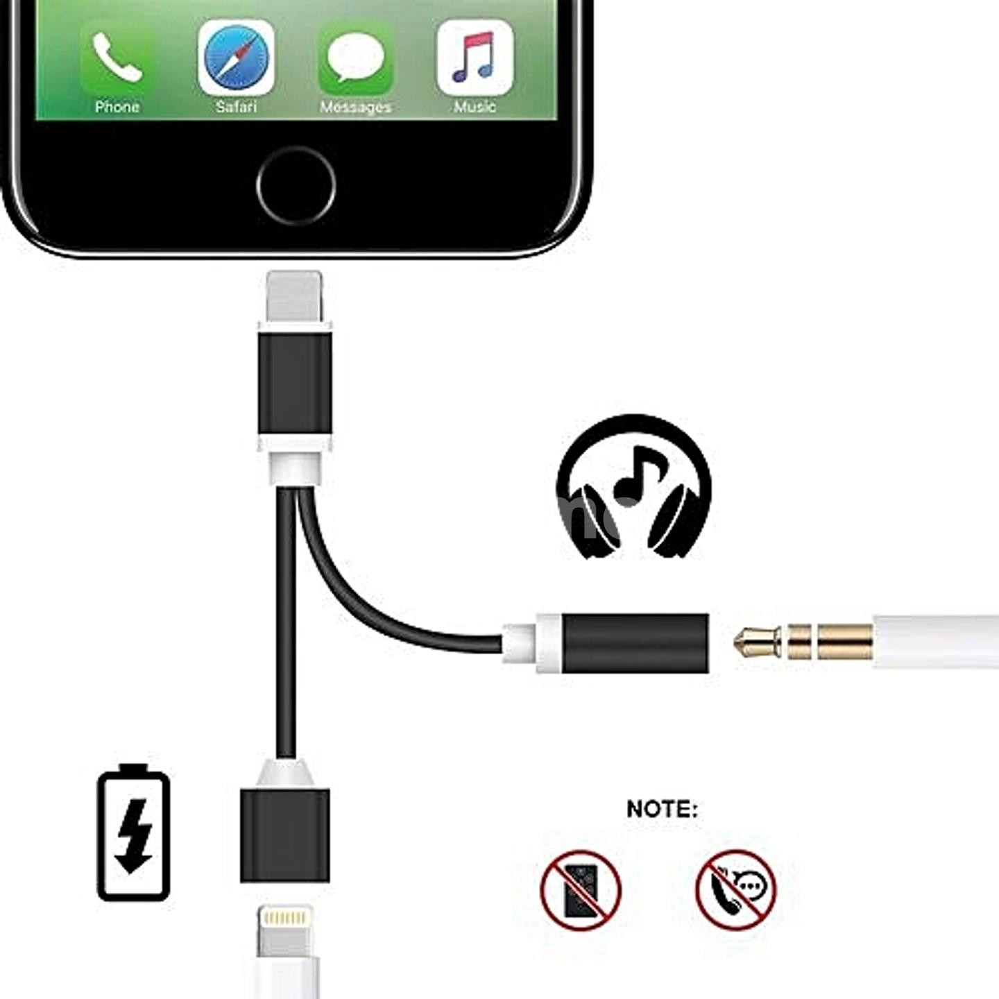 iPhone Lightning to 3 5mm Audio Charge Earphone Jack Adapter Cable- Sprtjoy  2 in 1 Lightning Charging Port for the iPhone 7 7 Plus 6S 6 iPod iPad
