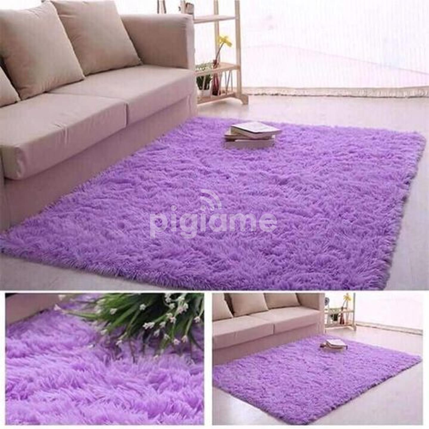 Fluffy Carpet Purple Comfortable