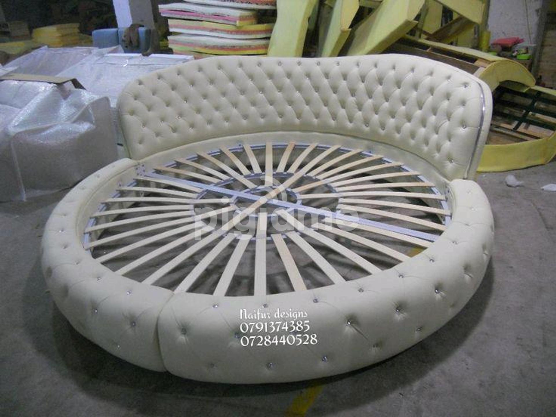 Modern Round Bed Designs Tufted Beds Customized Beds In Nairobi Pigiame