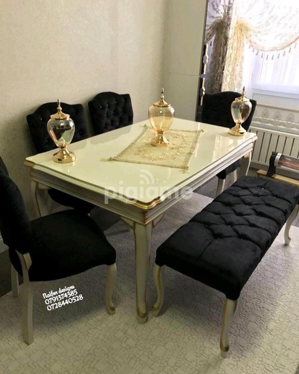 Latest Dining Table Sets Black Chesterfield Dining Chairs Six Seater Dining Set Gold Table In Nairobi Pigiame
