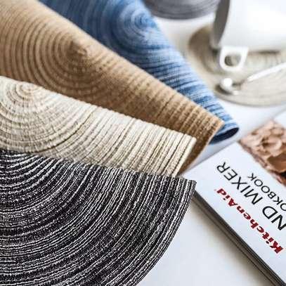 Cloth round kitchen mat image 3