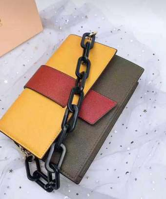 Chain leather sling  Bags image 1