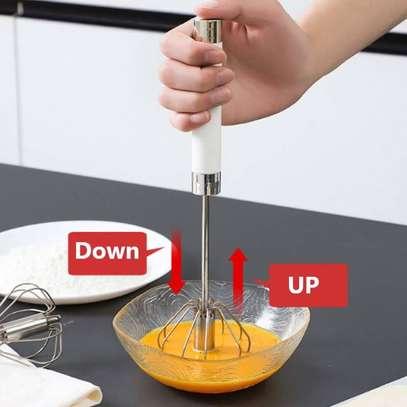 Spinning hand push egg beater  /whisk image 1