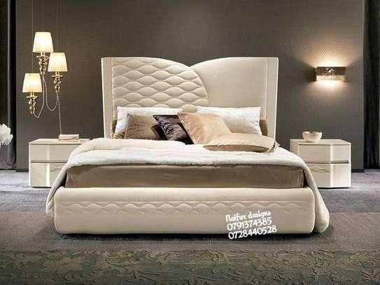 Modern beds sale kenya/Classic beds/kingsize beds/6*6 beige beds/Luxury beds/Bedroom design/modern Bedroom inspo/bedroom ideas image 1