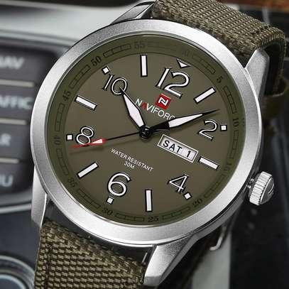 NAVIFORCE brand fashion sport calender watches nylon strap wristwatch watch 30m image 3