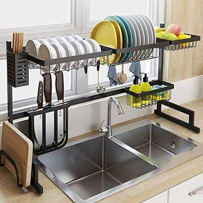 Over the sink dish drying rack image 1