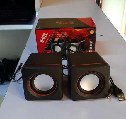 Portable mini laptop speakers