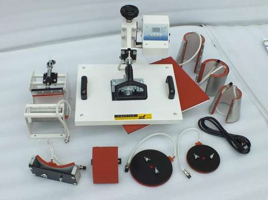 Combo  Sublimation Hot Pressing Machine for T Shirts, Mug, Hat, Plate, Cap… image 1