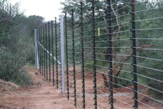 Electric fence free standing and on wall