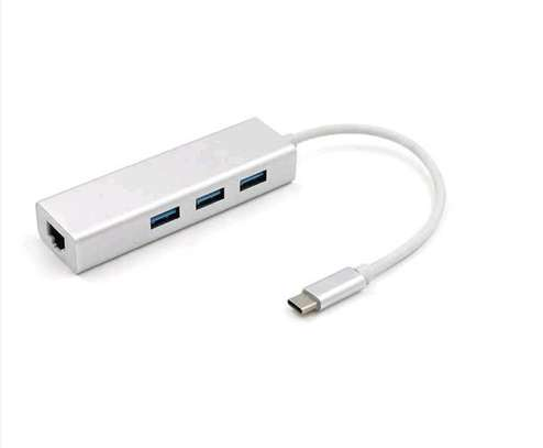 3 Port USB C Hub with Gigabit Ethernet RJ45 GbE Port image 4