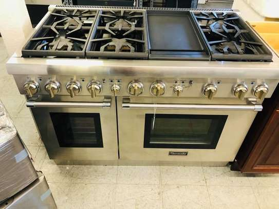 Gas electric cooker with oven