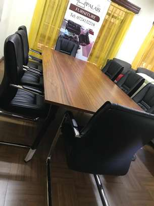 Board room table seats upto 8 people 2.4m image 1