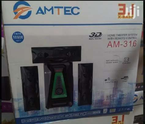 Amtec 3.1 Sub Wooofer With Bluetooth With Strong Bass image 1