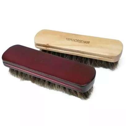 Quality horse hair shoe brush