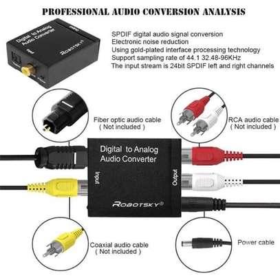 Digital to analog audio converter adapter image 1