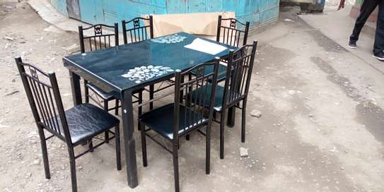 Home working point dining table plus six chairs image 1