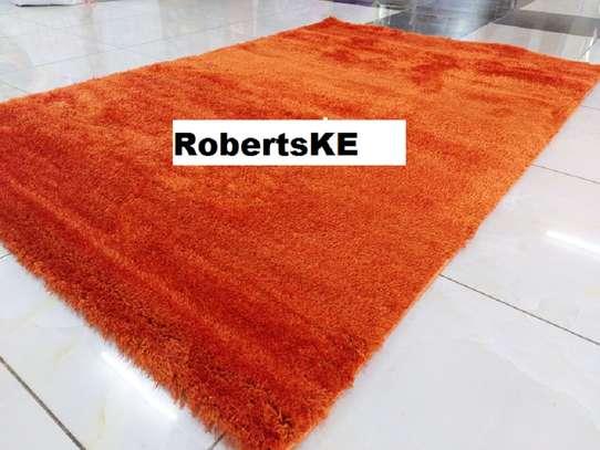 Turkish shaggy carpet orange 5 by 8 image 1