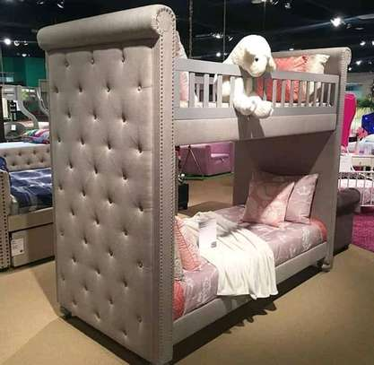 Fabric tufted Double decker beds image 3
