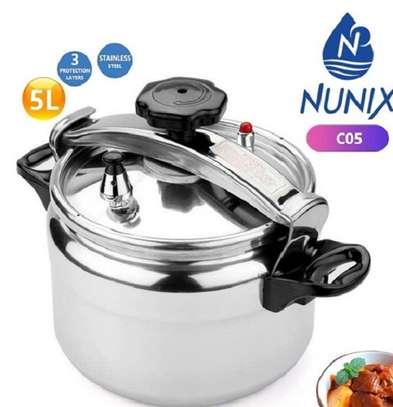 5L Nunix Non explosive Pressure Cooker image 1