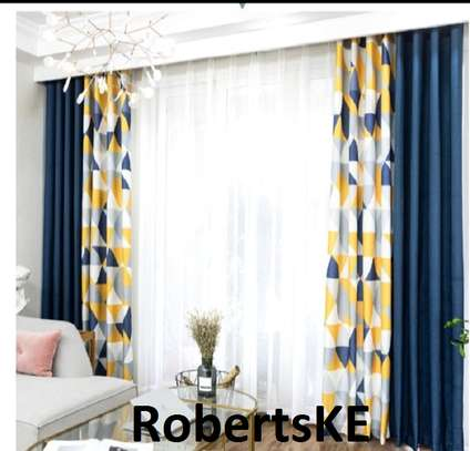 printed yellow curtain image 1