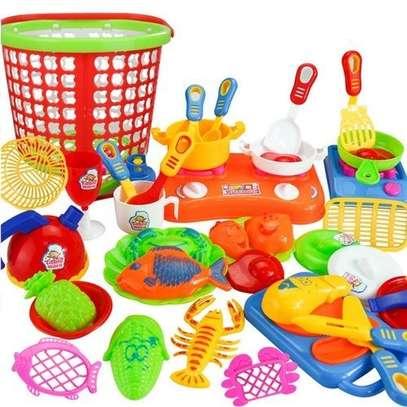 35pcs Plastic Kids Children Kitchen Utensils Food Cooking Pretend Play Toy image 1