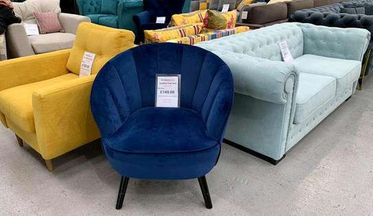 Modern accent chairs for sale in Nairobi Kenya/blue single seater sofas for sale in Nairobi image 1