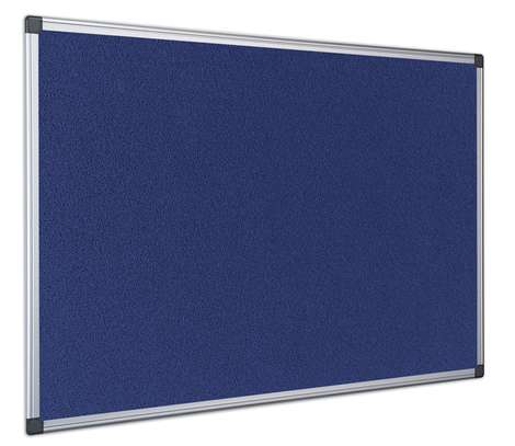 8ft by 4ft fabric fitted Noticeboard image 1