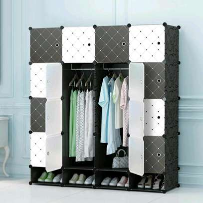 Executive Portable 3 Column High Density Plastic Wardrobes image 1