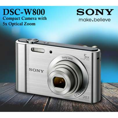 Sony Cyber-shot DSC-W800 Digital Camera (Black) image 1