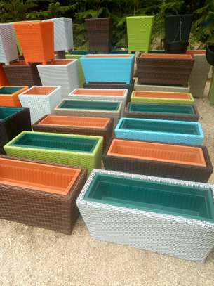 Trough  Rattern Planters