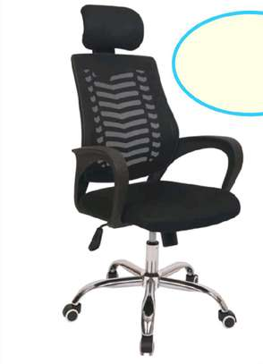 Home office chair with wheels and arms image 1