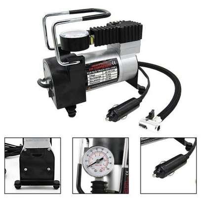 Portable DC 12V Metal Air Compressor Tyre Inflator Electric Pressure Gauge image 3