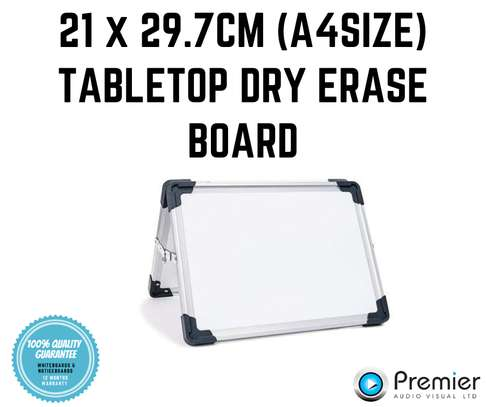 Table top A4 size double sided whiteboard image 1