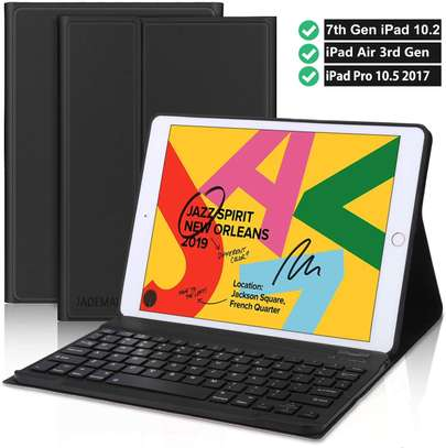 Detachable Smart Wireless bluetooth Keyboard Kickstand Tablet Case For iPad Air 3 10.5 inches image 5