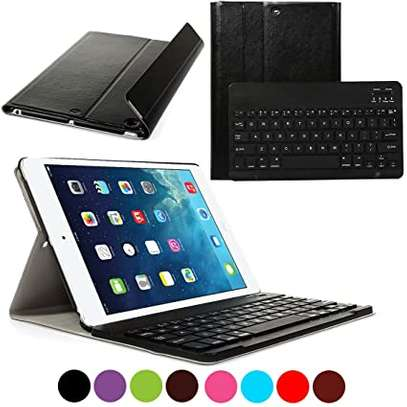 Removable Bluetooth Wireless Keyboard PU Leather Tablet Stand Cover Case for iPad 9.7 2017/2018 models[iPad 5th gen/6th gen] iPads image 4