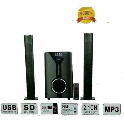 Vitron Subwoofer System FM,USB,Bluetooth 9000Watts BLACK image 1