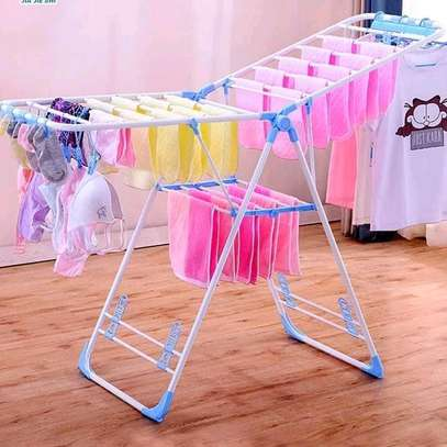 Flodable drying clothes rack. image 1