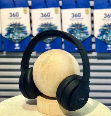 Stereo Wireless Bluetooth Headphones With Mic-Black image 3