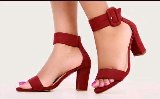 Ladie chunky heels image 2